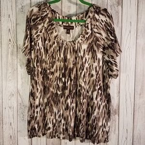 Animal Print Knit Top, GUC